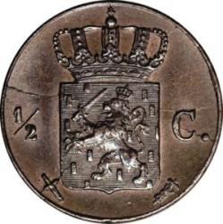 Moneta > ½centesimi, 1850-1877 - Paesi Bassi  - reverse