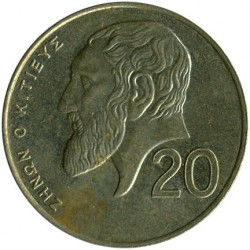 Coin > 20 cents, 1991-2004 - Cyprus  - obverse