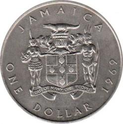 Mynt > 1dollar, 1969-1970 - Jamaica  - obverse