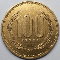 Монета > 100песо, 1989-2000 - Чилі  - reverse