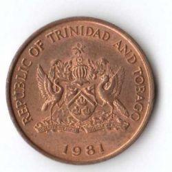 Moneta > 1centas, 1981 - Trinidadas ir Tobagas  - obverse