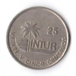 מטבע > 25סנטאבו, 1989 - קובה  (INTUR: Non-magnetic) - reverse