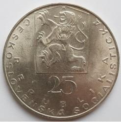 Moneta > 25kronų, 1969 - Čekoslovakija  (100th Anniversary - Death of Jan Evangelista Purkyně) - obverse