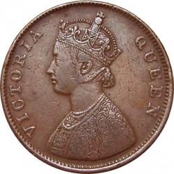 Münze > ½Anna, 1862-1876 - Britisch-Indien  - obverse