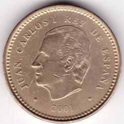 سکه > 100پزوتا, 2001 - اسپانیا  (132th Anniversary - Peseta) - obverse