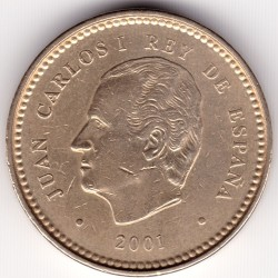سکه > 100پزوتا, 2001 - اسپانیا  (132th Anniversary - Peseta) - reverse