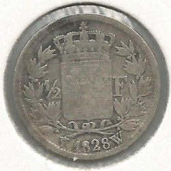 Moneta > ½franco, 1825-1830 - Francia  - reverse