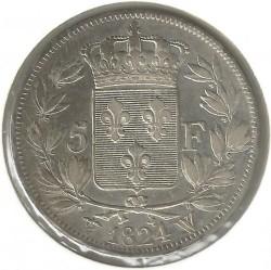العملة > ٥فرنك, 1816-1824 - فرنسا  - reverse