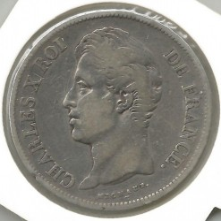 Moneta > 5franchi, 1827-1830 - Francia  - reverse
