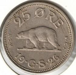 Монета > 25ере, 1926 - Гренландія  (Кругла без отвору) - reverse