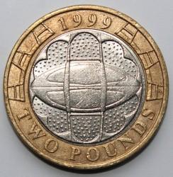 מטבע > 2פאונד, 1999 - בריטניה  (Rugby World Cup) - reverse