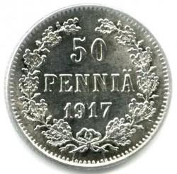 Moneta > 50penniä, 1917 - Finlandia  (Aquila senza corona) - obverse