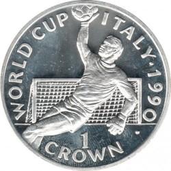 Moneta > 1corona, 1990 - Gibilterra  (XIV Coppa del Mondo FIFA, Italia 1990 - Portiere) - reverse