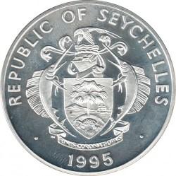 Moneta > 25rupie, 1995 - Seychelles  (Fauna in via di estinzione - Gheppio) - obverse