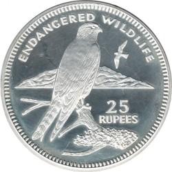 Moneta > 25rupie, 1995 - Seychelles  (Fauna in via di estinzione - Gheppio) - reverse
