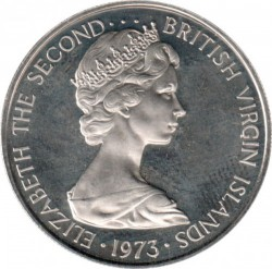 Moneda > 25centavos, 1973-1984 - Islas Vírgenes Británicas  - obverse