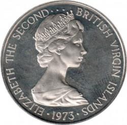 Minca > 25cents, 1973-1984 - Britské Panenské ostrovy  - obverse