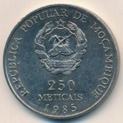 Moneta > 250meticais, 1985 - Mozambico  (10° anniversario dell'indipendenza) - obverse