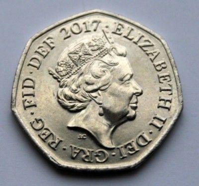 50 Pence 2017 Sir Isaac Newton Vereinigtes Königreich Münzen