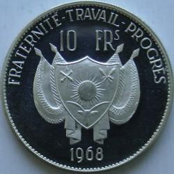 Moneta > 10franków, 1968 - Niger  (Lew) - obverse