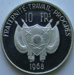 Moneta > 10franków, 1968 - Niger  (Lew) - reverse