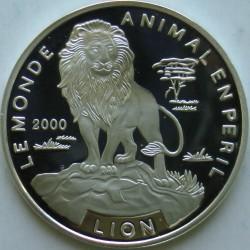 Moneta > 1000franków, 2000 - Togo  (Zagrożone gatunki zwierząt - Lew) - reverse