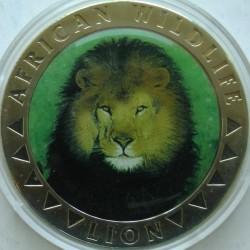 Moneta > 5dolarów, 2000 - Liberia  (Fauna Afryki - Lew) - reverse