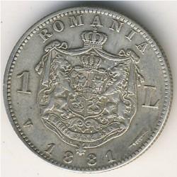 מטבע > 1לאי, 1881 - רומניה  - reverse