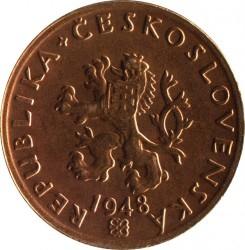 Mynt > 20hellers, 1947-1950 - Tjeckoslovakien  - obverse