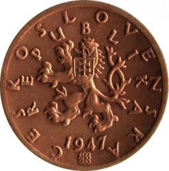 Moneda > 50hellers, 1947 - Txecoslovàquia  - obverse