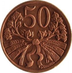 Moneda > 50hellers, 1947 - Txecoslovàquia  - reverse