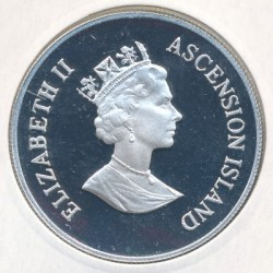 Moneta > 50pensów, 1995 - Wyspa Wniebowstąpienia  (95 rocznica urodzin - Królowa Matka ) - obverse