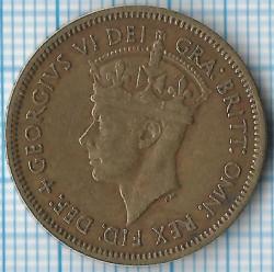 Moneda > 1shilling, 1949-1952 - Àfrica Occidental Britànica  - obverse