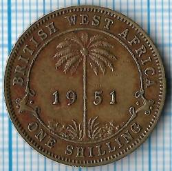 Moneda > 1shilling, 1949-1952 - Àfrica Occidental Britànica  - reverse