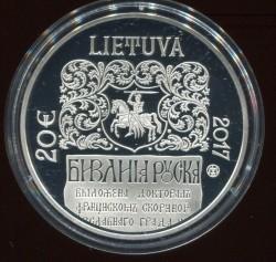 Монета > 20евро, 2017 - Литва  (500 лет Русинской библии Франциска Скорины) - obverse