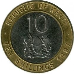 Монета > 10шиллингов, 1994-1997 - Кения  - obverse