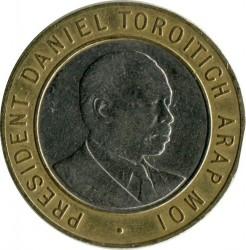 Монета > 10шиллингов, 1994-1997 - Кения  - reverse