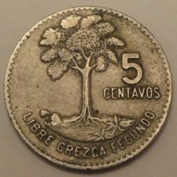 Moneda > 5centavos, 1965-1970 - Guatemala  - reverse