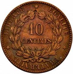 Moneta > 10centesimi, 1870-1898 - Francia  - reverse