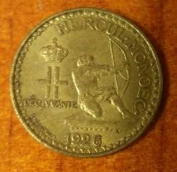 Monedă > 1franc, 1926 - Monaco  - reverse