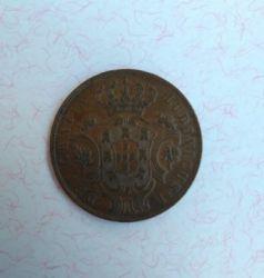 Монета > 5рейсов, 1865-1880 - Азорские острова  - reverse