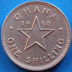 Кованица > 1шилинг, 1958 - Гана  - reverse
