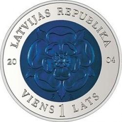 Moneda > 1lats, 2004 - Letonia  (Moneda del Tiempo) - obverse