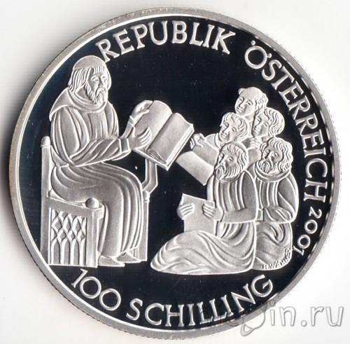 100 Schilling 2001 Herzog Rudolf Iv österreich Münzen Wert