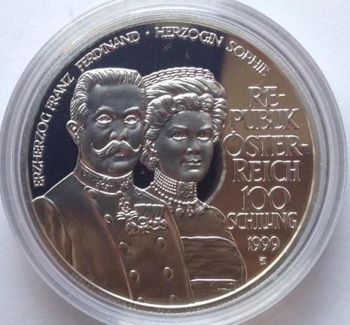 100 Schilling 1999 Erzherzog Franz Ferdinand österreich Münzen