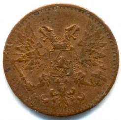 Moneta > 1penni, 1917 - Finlandia  - reverse