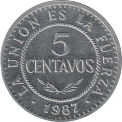 Coin > 5centavos, 1987 - Bolivia  - reverse