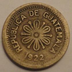 Munt > 50centavos, 1922 - Guatemala  - reverse