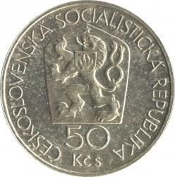 Moneta > 50corone, 1978 - Cecoslovacchia  (650° anniversario della zecca di Kremnica) - obverse