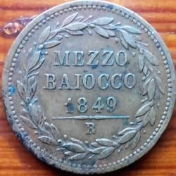 Монета > ½байокко, 1847-1849 - Папська область  - reverse